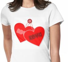 Retro heart design  Womens Fitted T-Shirt