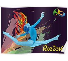 Rio Olympics 2016 Gymnast Poster