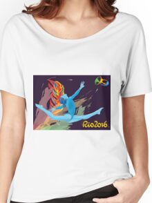 Rio Olympics 2016 Gymnast Women's Relaxed Fit T-Shirt