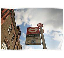 Camden Town Bus Stop Poster
