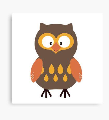Brown Pumpkin Owl Canvas Print