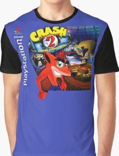Crash Bandicoot 2 Playstation Box Art Shirt Graphic T-Shirt