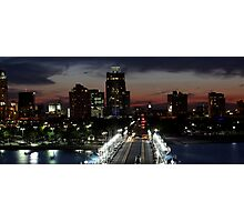 St. Petersburg FL Skyline - View from The Pier Photographic Print
