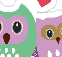 Owl couple Sticker
