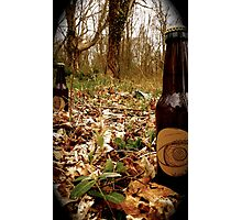 Beer In field Photographic Print