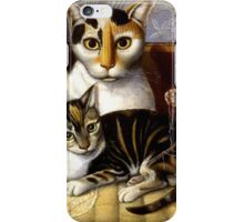 Naive Cat Painting iPhone Case/Skin