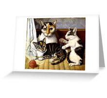 Naive Cat Painting Greeting Card