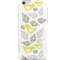 yellow birds vertical illustration iPhone Case/Skin