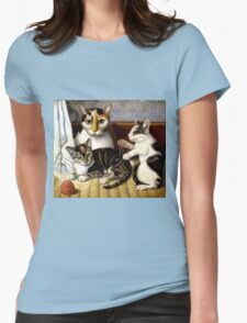 Naive Cat Painting T-Shirt