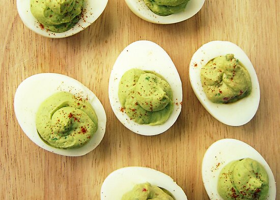 Guacamole Deviled Eggs by jedesigns