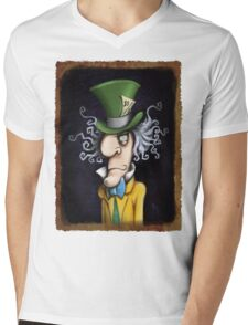 were all mad here Mens V-Neck T-Shirt