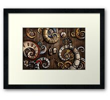 Steampunk - Clock - Time machine Framed Print