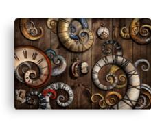 Steampunk - Clock - Time machine Canvas Print