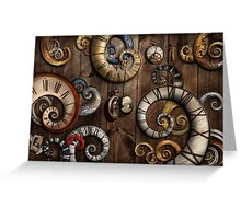 Steampunk - Clock - Time machine Greeting Card