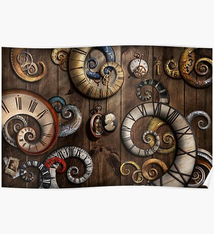 Steampunk - Clock - Time machine Poster