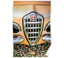 1954 Alfa Romeo Spider Italian Sports Car Poster