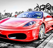 Red Ferrari F430 Italian Sports Car  by chris-csfotobiz