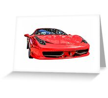 Red Ferrari 458 Italian Sports Car  Greeting Card