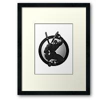 Black Ninja Logo Framed Print