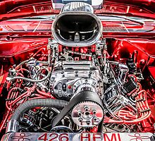 426 Hemi Ram Air Hot Rod Engine by Chris L Smith