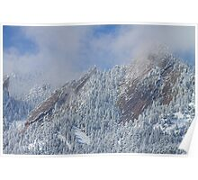 Flatiron Snow Dusting Close Up Boulder Colorado Poster