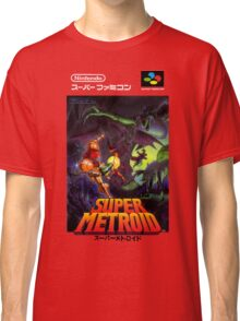 Super Metroid Nintendo Super Famicom Japanese Box Art Shirt (SNES) Classic T-Shirt