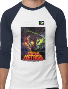 Super Metroid Nintendo Super Famicom Japanese Box Art Shirt (SNES) Men's Baseball ¾ T-Shirt