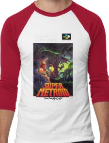 Super Metroid Nintendo Super Famicom Japanese Box Art Shirt (SNES) Men's Baseball ¾ T-Shirt