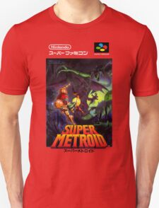 Super Metroid Nintendo Super Famicom Japanese Box Art Shirt (SNES) Unisex T-Shirt