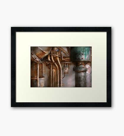 Steampunk - Plumbing - Industrial abstract  Framed Print