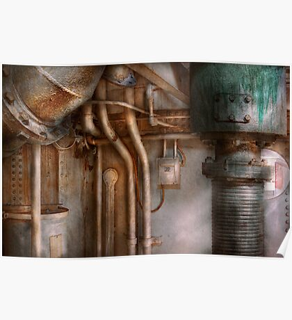 Steampunk - Plumbing - Industrial abstract  Poster