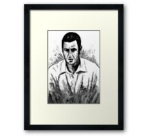 DARK COMEDIANS: Adam Sandler Framed Print