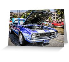 1968 Chevrolet Chevy Camaro SS American Muscle Car Greeting Card