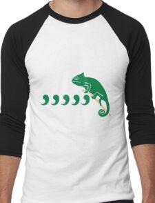 comma comma chameleon Men's Baseball ¾ T-Shirt
