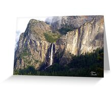 A moment of sun on a rainy day in Yosemite Greeting Card