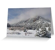 Springtime Colorado Rocky Mountains Boulder Greeting Card