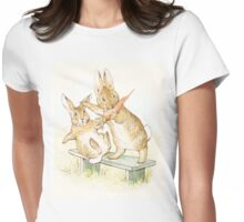 Peter Rabbit Nicking Carrots Womens Fitted T-Shirt