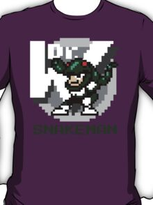 Snake Man with Green Text T-Shirt