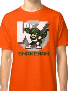 Snake Man with Green Text Classic T-Shirt