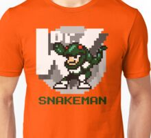 Snake Man with Green Text Unisex T-Shirt
