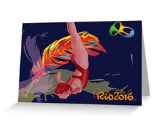 Unofficial Rio 2016 Olympics Diver Greeting Card