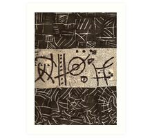 Asemic BW/WB Art Print