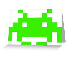 Pixel Alien Greeting Card