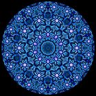 Flowers In Blue Kaleidoscope 01 by fantasytripp
