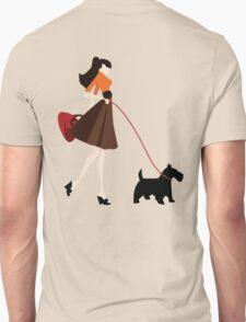 Girl Walking the Dog T-Shirt