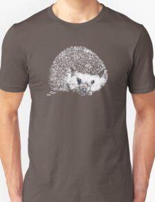 White Hedgehog Scratchboard T-Shirt