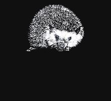 White Hedgehog Scratchboard Unisex T-Shirt