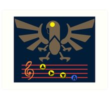 Song of the Songbird (Alt version. No bolts) Art Print