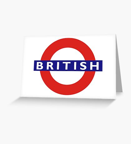 BRITISH, UNDERGROUND, TUBE, LONDON, BRITAIN, ENGLAND, UK, Blighty Greeting Card