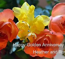 Happy Golden Wedding Anniversary- 13th April by lynn carter